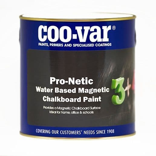Coovar ProNetic Water Based Magnetic Chalk Board Paint - 500ml